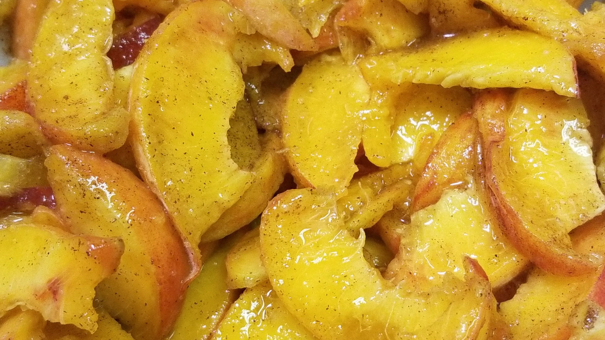 Maple cinnamon sugar peaches